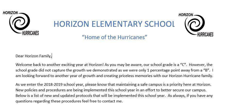 Horizon Elementary Homepage