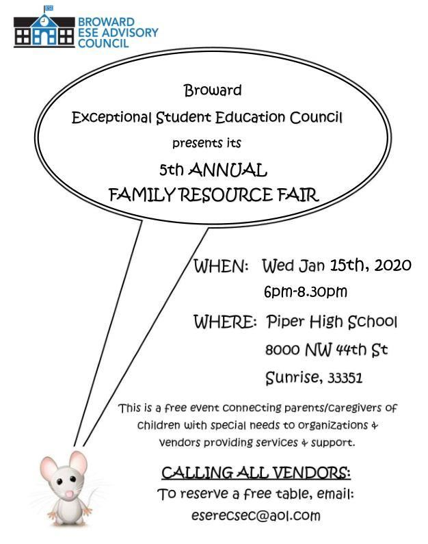 ESE Resource Fair