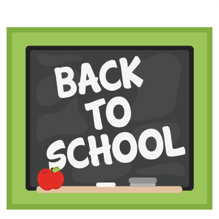 back to school chalkboard clip art