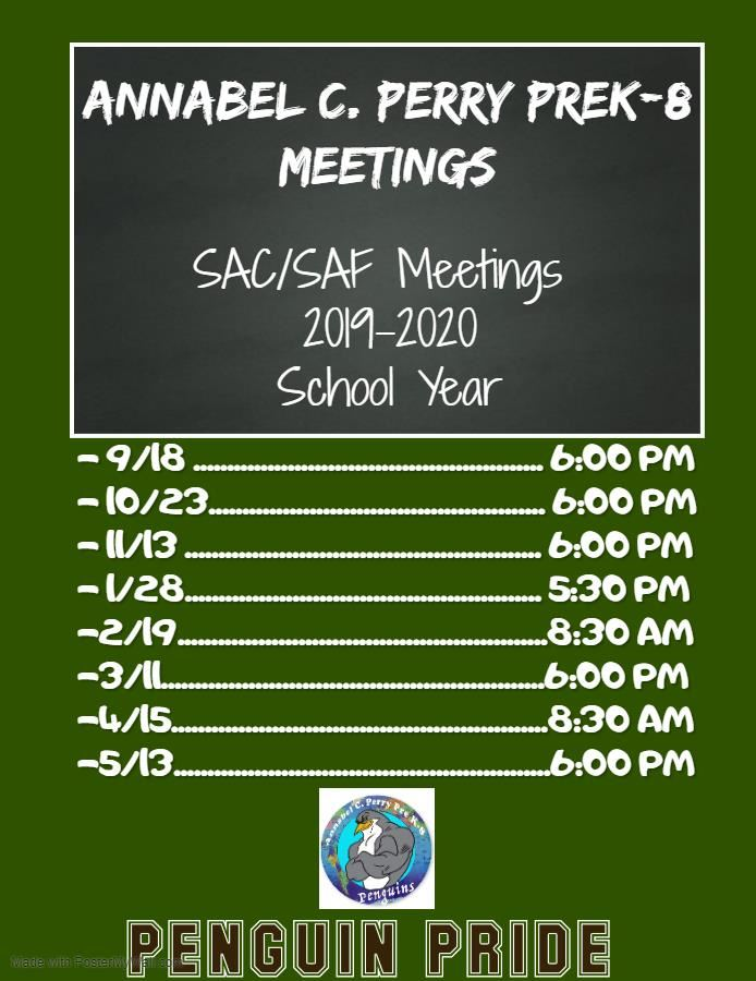 SAC Meetings: 2019-2020