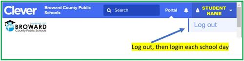 Log out Clever