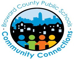 Broward County Public Schools and Community Connections logo.