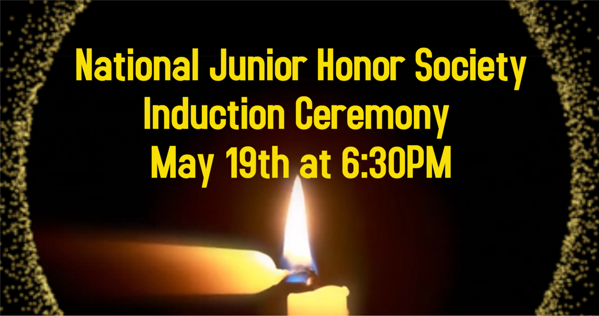 NJHS Induction Ceremony 5/19 at 6:30PM