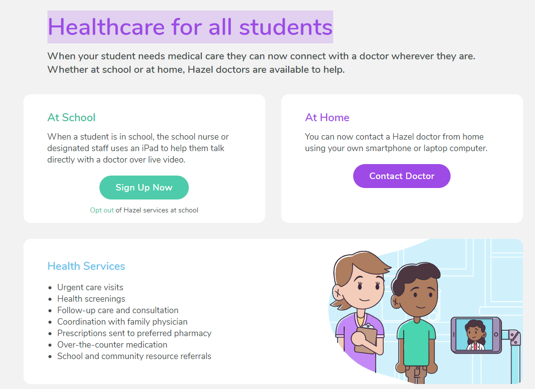 Healthcare for all students