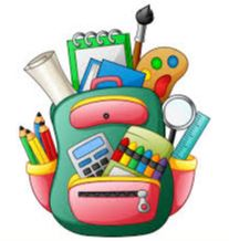 Backpack with school supplies