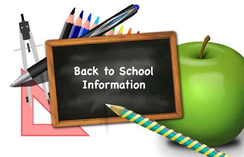 Please Click for Back To School Information Links and Forms!!!