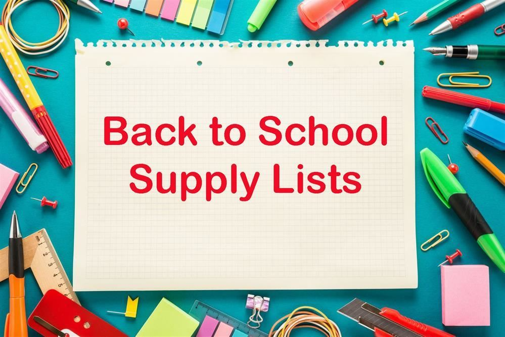 2019-2020 Suggested School Supply List