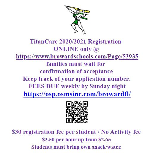 TitanCare 2020/2021 Registration