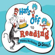 Dr. Suess pic in color wishing him happy birthday